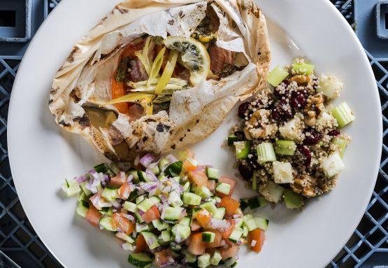 אמנון אפוי עם ירקות