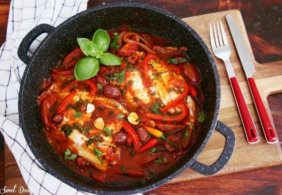 פילה אמנון ברוטב עגבניות ים תיכוני
